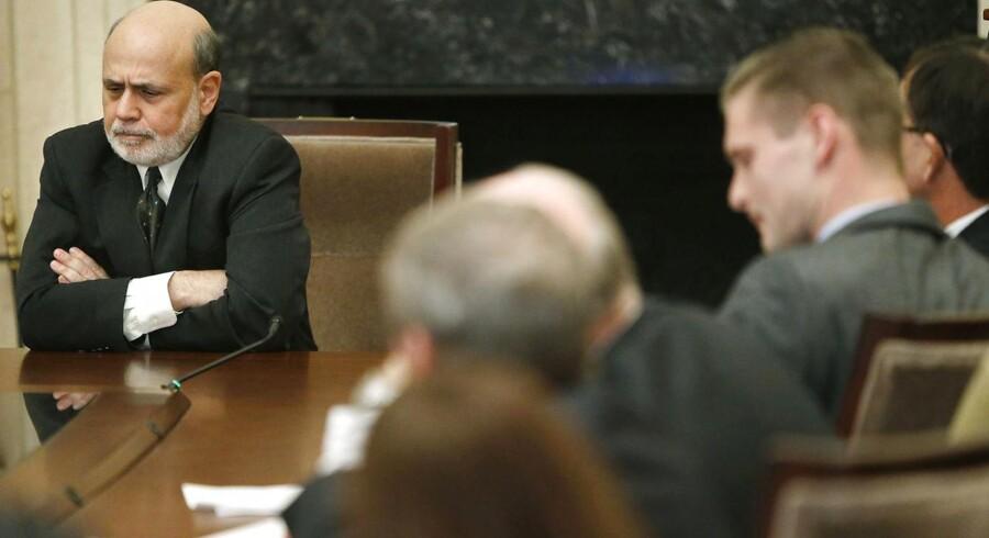 Den Amerikanske Centralbankchef Ben Bernanke kan være på vej mod et stop for køb af obligationer.