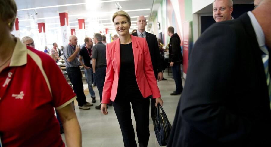 Statsminister Helle Thorning-Schmidt taler lørdag på Socialdemokraternes kongres i Aalborg. Her er hun fotograferet til 3Fs kongres samme sted for få uger siden.