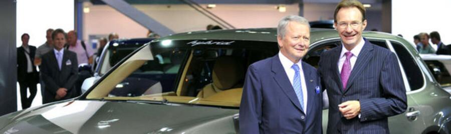 Her ses Porsche-toppen i skikkelse af bestyrelsesformanden og den adm. direktør.