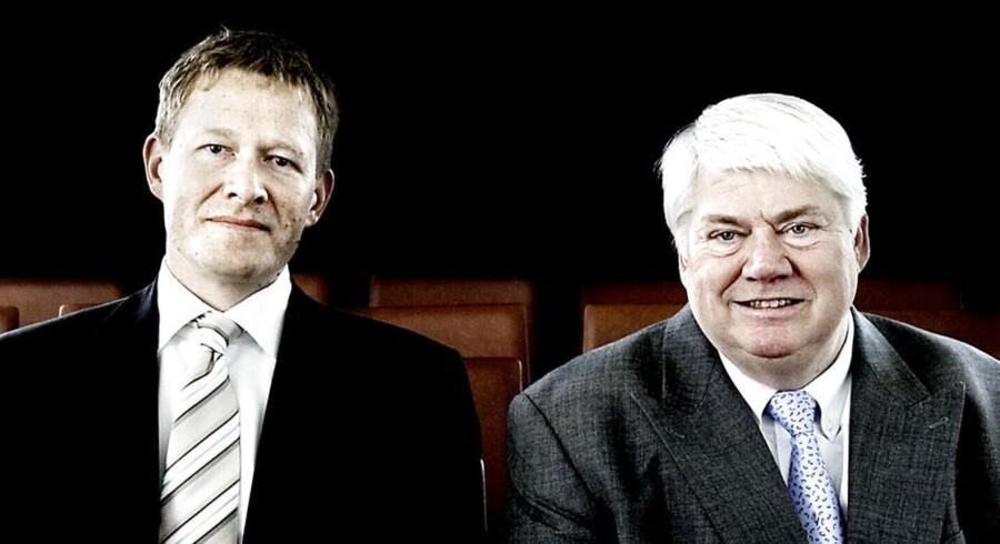 Danfoss' koncernchef Niels B. Christiansen (tv.) og bestyrelsesformand Jørgen Mads Clausen (th)