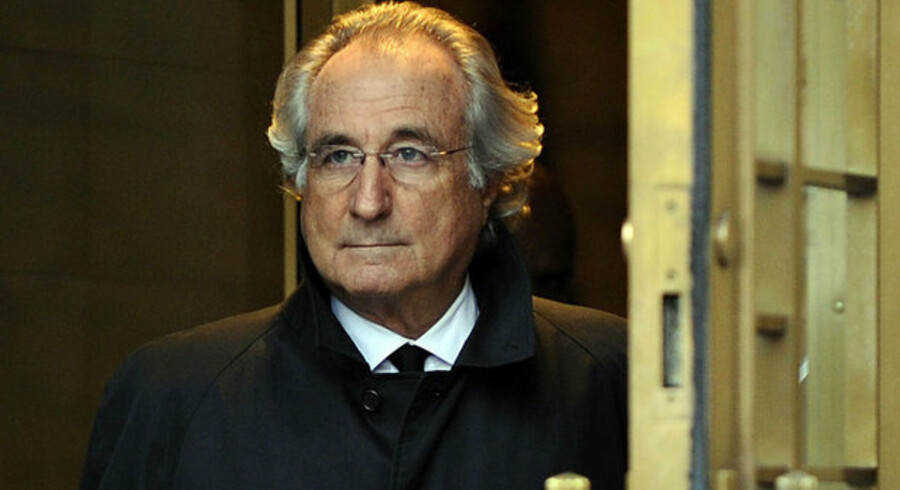Bernard Madoff, som stod bag pyramidekæden, fik 150 års fængsel. Foto: Timothy A. Clary, AFP/Scanpix