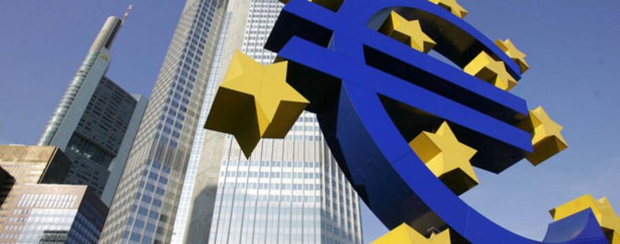 Eurotower i Frankfurt huser Den Europæiske Centralbank.