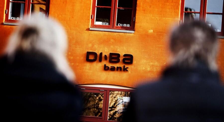 Sydbank har givet et stort bud på Diba Bank. Her filialen i Køge.