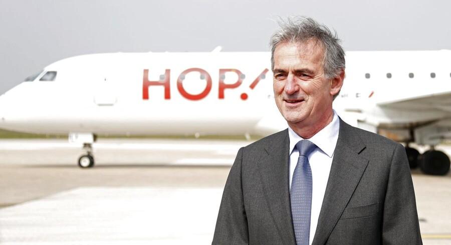 Frederic Gagey, CFO i Air France KLM, ved præsentationen af det fly »Hop!« i marts 2013.