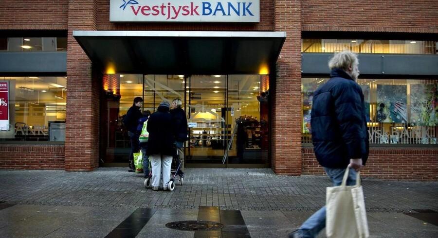 Vestjysk Bank i Holstebro onsdag den 21. december, hvor Finanstilsynet pålagde banken nedskrivninger for ekstra 550 mio. kr. primært på udlån til landbruget.