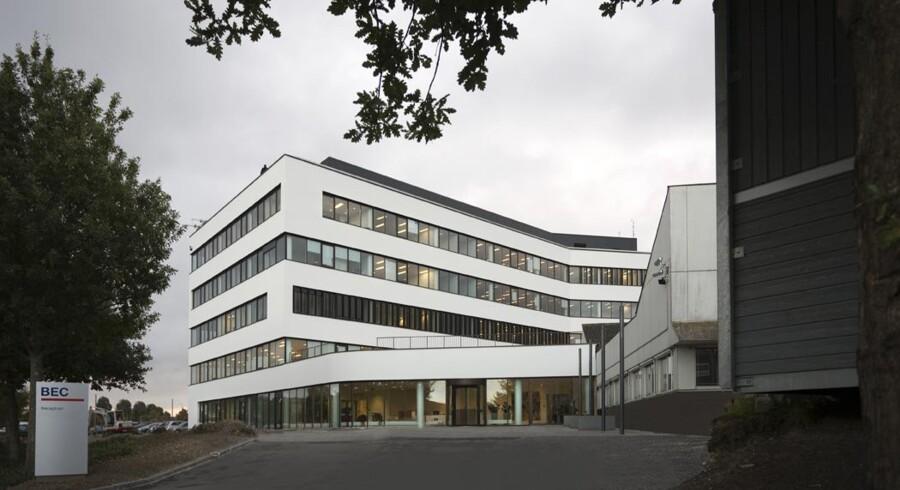 Bankernes EDB-Central (BEC) med hovedkontor her i Roskilde skal fyre 40 medarbejdere i næste uge. Foto: BEC
