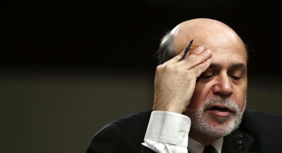 Ben Bernanke har været chef for den amerikanske centralbank Federal Reserve i en meget vanskelig periode - nu tyder meget på, at han stopper i 2014.