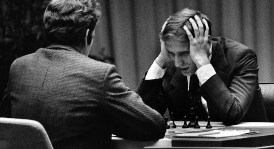 Boris Spassky og Bobby Fischer, 1972.