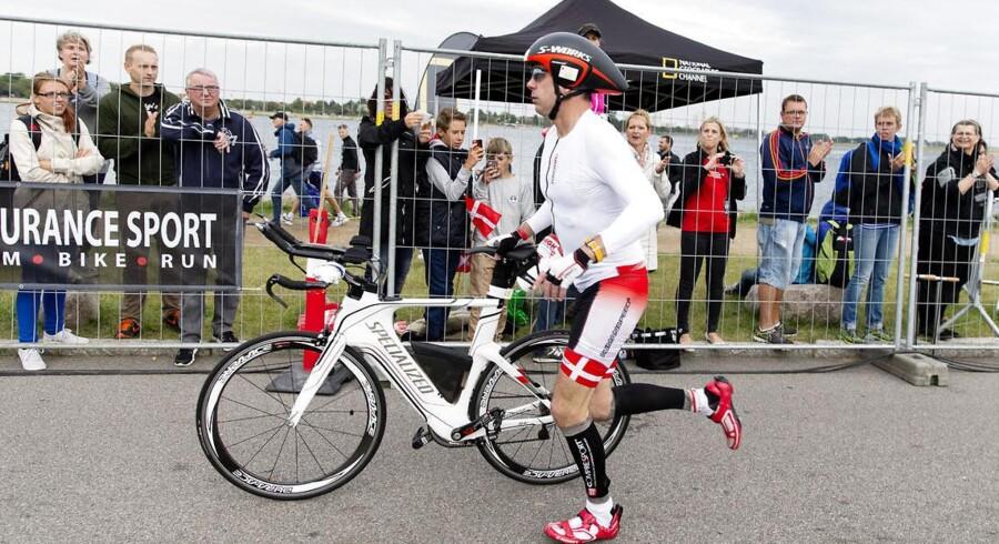 H.K.H. Kronprins Frederik deltager i KMD Ironman Copenhagen 2013 med start fra Amager Strandpark.