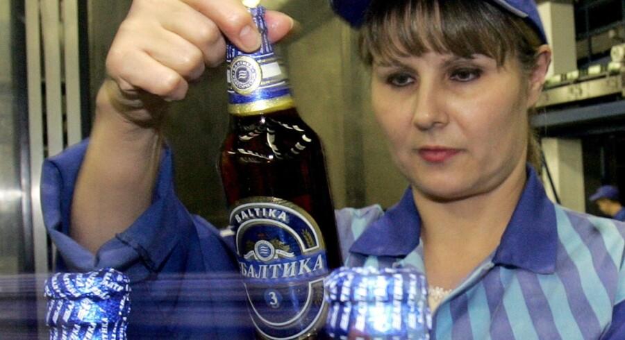 Baltika-øl.