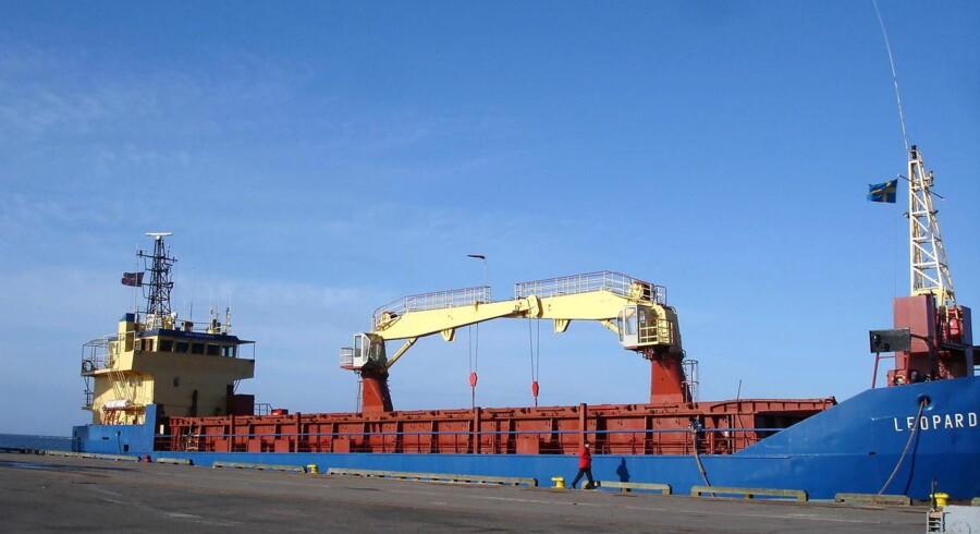 Fragtskibet Leopard, som blev kapret 12. januar i år.