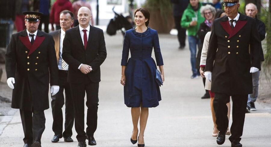 Kronprinsesse Mary ankommer til australsk orkestergæstespil med Melbourne Symphony Orchestra i Tivoli koncertsal. (Foto: Simon Læssøe/Scanpix 2014)