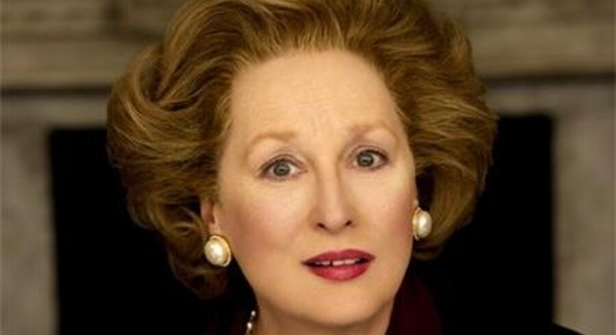 """Her er det første offentliggjorte foto af Meryl Streep, der spiller Margaret Thatcher i en ny film om """"jernladyens"""" måske vigtigste embedsperiode."""