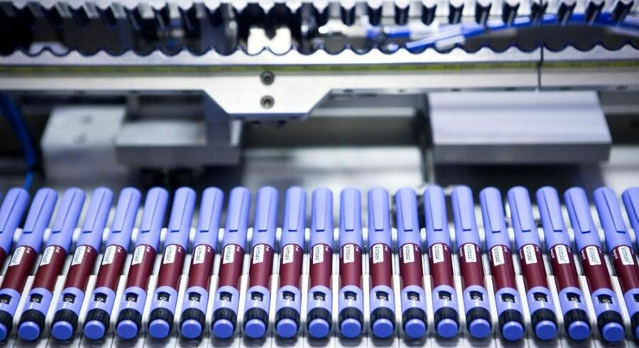 Den danske medicineksport vokser støt. Her et glimt fra Novo Nordisks produktion af diabetesmedicinen Victoza. Arkivfoto: Søren Bidstrup