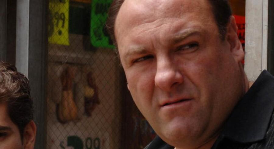 James Gandolfini vandt tre Emmy-priser for sin rolle som New Jersey-mafiabossen Tony Soprano.