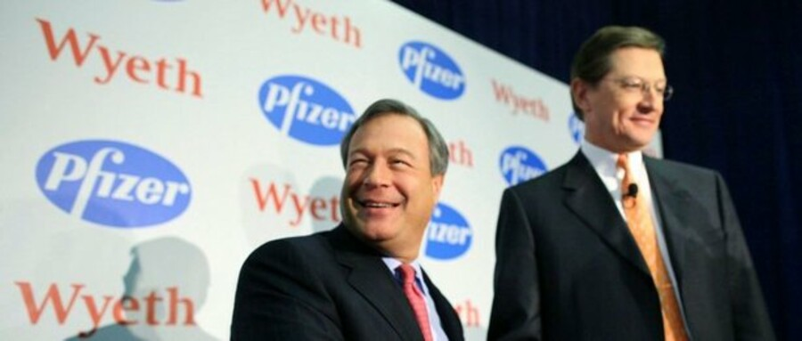 Første halvårs største virksomhedsovertagelse var da medicinalkæmpen Pfizer købte Wyeth