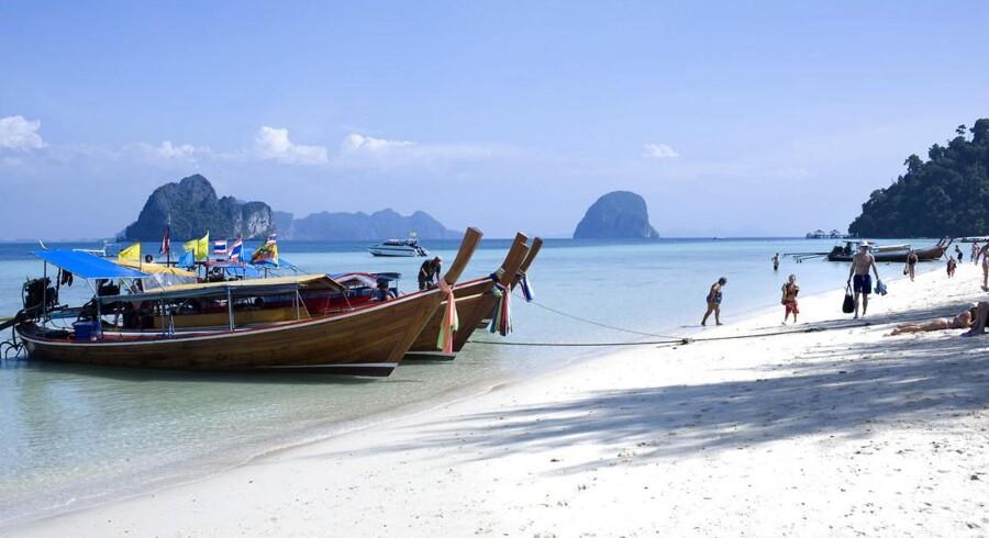 Steder som eksempelvis øen Koh Lanta trækker stadig i de skandinaviske rejsende.