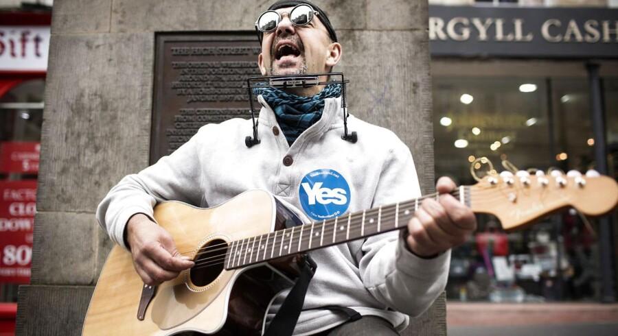 Edinburgh dagen før afstemningen om Skotlands uafhængighed