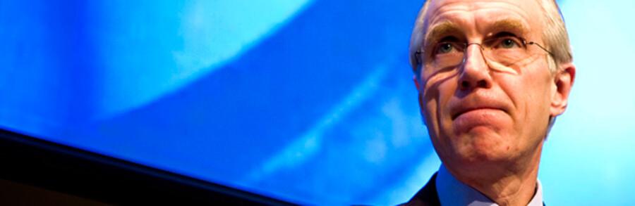 Danske Banks ordførende direktør, Peter Straarup. Han er ikke den eneste, der ser store tab i øjnene.