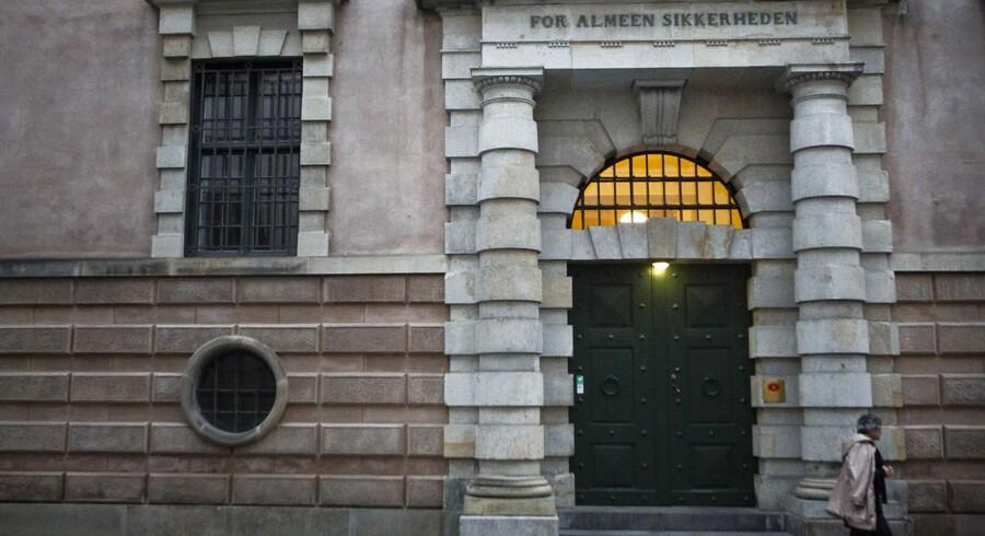 Her en af indgangene til Københavns Byret på Nytorv.
