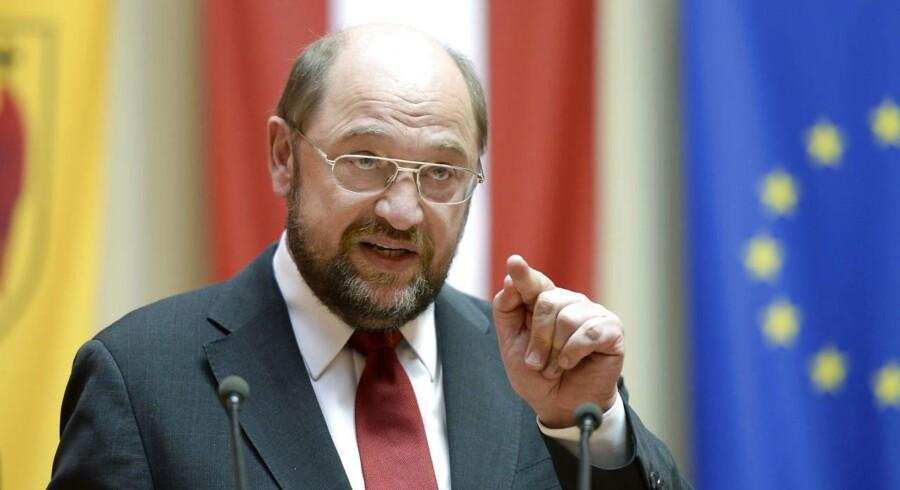 Formand for Europa-Parlamentet Martin Schulz.