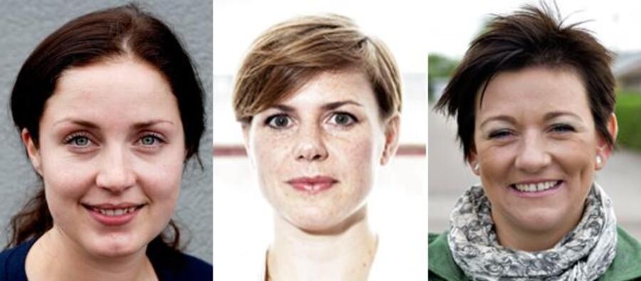 Fra venstre er det politisk ordfører for Socialdemokratiet, Maja Panduro, Enhedslistens gruppeformand Stine Brix (EL) og SFs fungerende gruppeformand, Pernille Vigsø Bagge.
