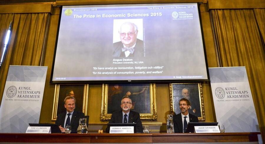 Mandag blev det officielt, at professor Angus Deaton vinder Nobelprisen i økonomi 2015.