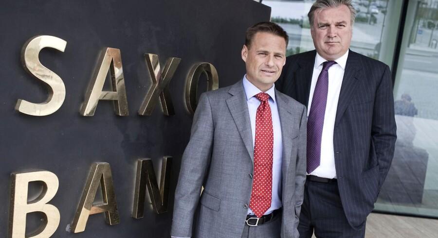 Saxo Bank-stifterne Kim Fournais og Lars Sejer Christensen. De fyrer nu efter købet af Brørup Sparekasse.