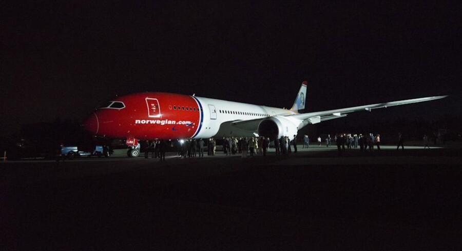 Her ses Norwegians første Dreamliner, da den rullede ud af fabrikshallerne i Seattle, Washington.