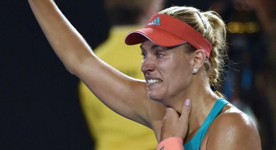 Der var blanke øjne hos 28-årige Angelique Kerber, der lørdag leverede en stor overraskelse i finalen mod storfavoritten Serena Williams fra USA ved Australian Open.