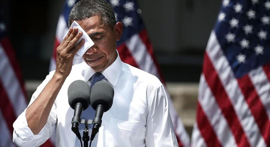 Klimaforandringerne vil fortsætte længe endnu, selv om vi slår bremsen i, sagde USAs præsident Barack Obama blandt andet i sin tale om grønnere energi.