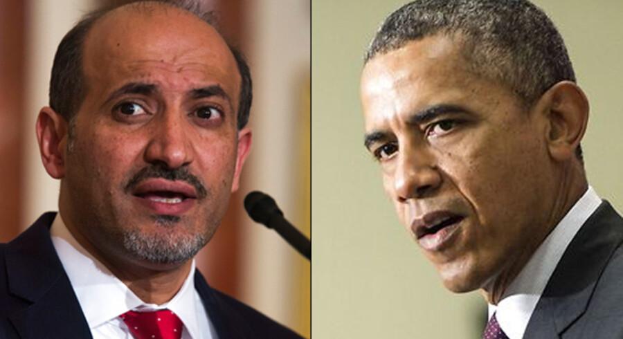 USAs præsident, Barack Obama, mødtes natten til onsdag dansk tid med lederen af den syriske oppositionskoalition, Ahmad al-Jarba.
