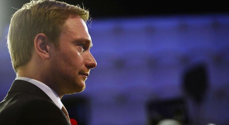 FDPs leder i Nordrhein-Westfalen, Christian Lindner, kan blive FDPs næste leder på landsplan.