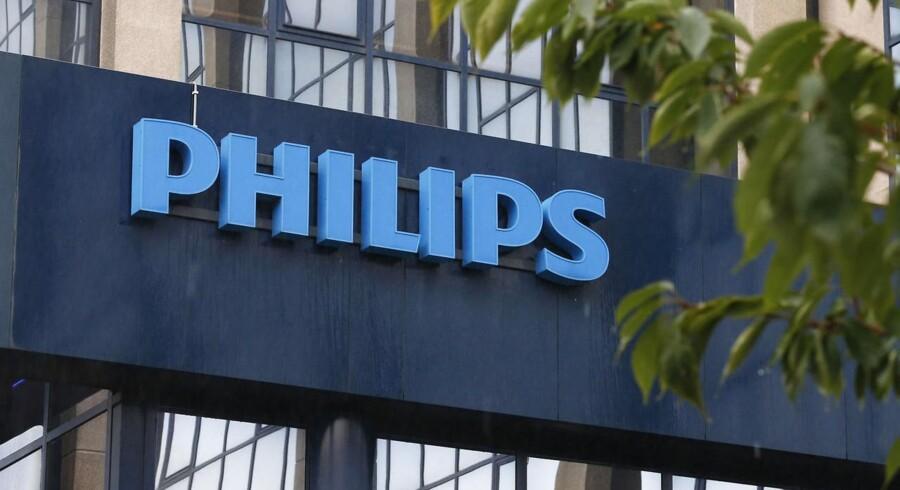 I Holland steg Philips' aktie efter regnskabsaflæggelse.