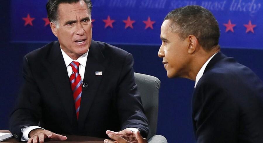 Mitt Romney og Barack Obama har mødt hinanden i direkte duel for sidste gang inden valget tirsdag 6. november.