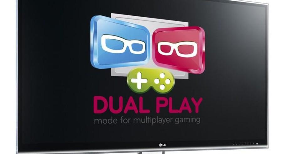Dual Play fra LG er en 3D-mulighed for toplayer-spil, hvor de to spillere kan se hver sit skærmbillede - på samme skærm.