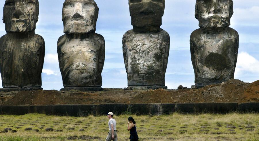 Moai-statuerne på Påskeøen er en stor turistattraktion.