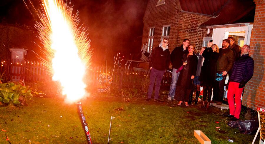 Nytårsaften i Valby 2014 - 2015 fyrværkeri