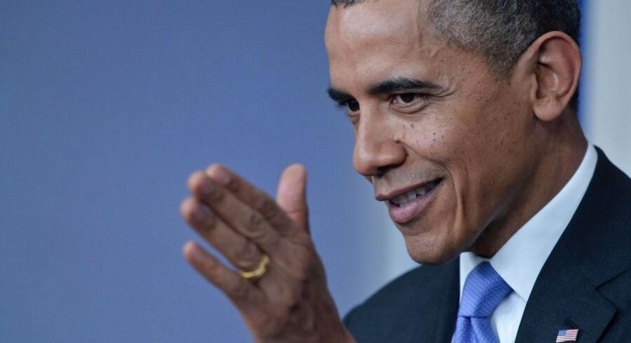Den amerikanske præsident kan notere sig en fremgang i amerikansk økonomi.