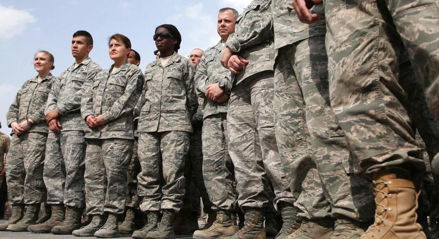 Amerikanske soldater i Afghanistan. Det amerikanske forsvarsbudget blev i går vedtaget med stemmerne 350-69 i Repræsentanternes Hus.