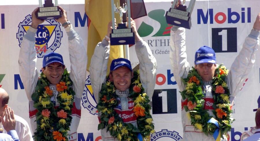 Det er sådan vi kender Tom Kristensen - På toppen af podiet ved Le Mans.