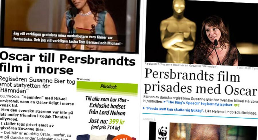 """Både Aftonbladet og Dagens Nyheter kalder """"Hævnen"""" for Persbrandt film efter den svenske hovedrolleindhaver."""