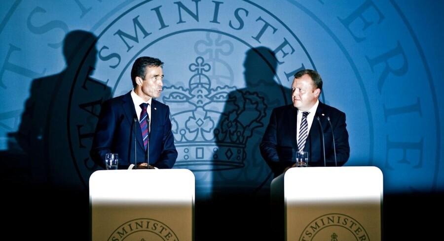 Nationalbankdirektør Nils Bernstein giver finanspolitikken ført under Anders Fogh Rasmussen (V) og Lars Løkke Rasmussen (V) en del af skylden for den langsomme genopretning af dansk økonomi. Arkivfoto.