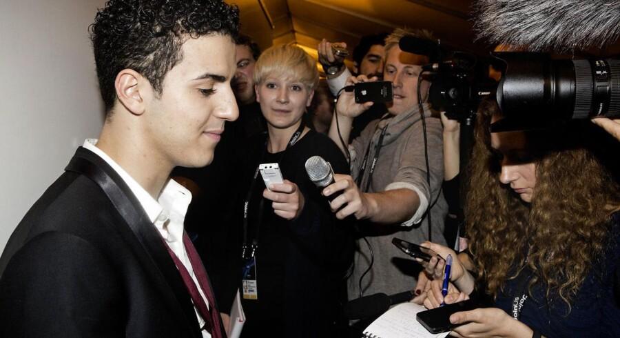 Basim var en populær herre blandt de danske journalister, efter han havde sunget sig til en niende plads ved Eurovision-finalen lørdag aften.