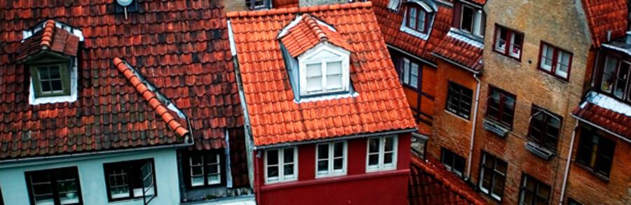 Landic Properties ejer en lang række bygninger i indre by - b.la. i Sværtegade. Hvad der skal ske med dem er usikkert.