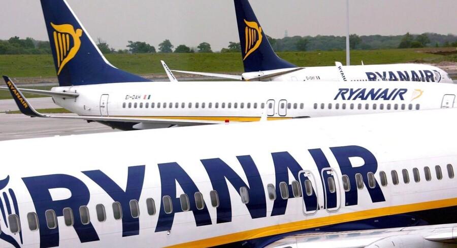 På trods af en stigning i omsætningen på 5 pct., så faldt Ryanairs overskud med 21 pct.