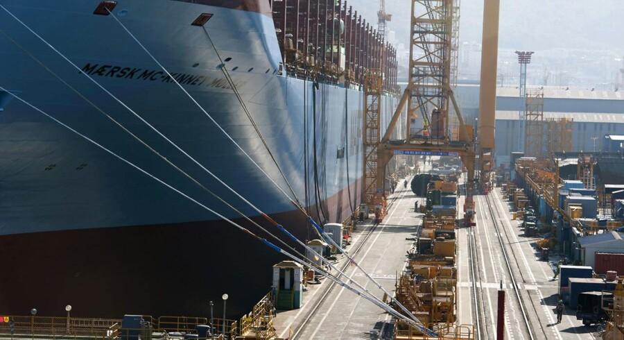 Maersk Lines nye Triple-E skib ' Mærsk Mc-Kinney Møller'.
