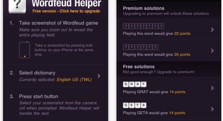 Den fejeste app i 2011 hedder 'Wordfeud Helper'.