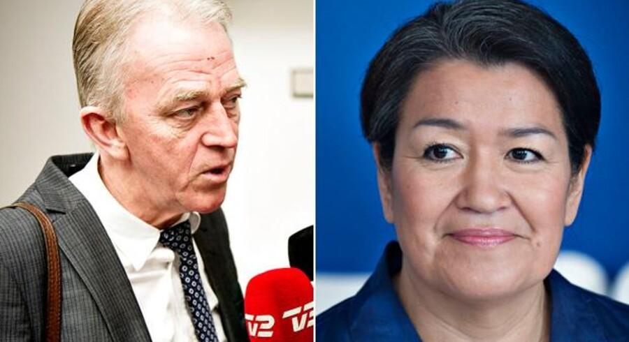 Udenrigsminister Villy Søvndal (SF) beklager, at Grønland boykot af Artisk Råd. Til højre er det Grønlands landsstyreformand, Aleqa Hammond.