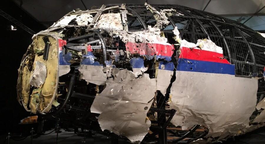 MH17 blev transporteret tilbage til Holland, hvor det blev rekonstueret.